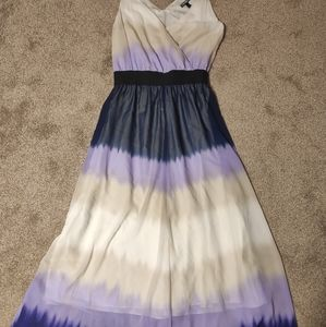 Express purple ombre maxi dress small